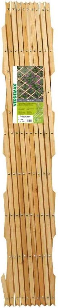 Verdemax 5320/2/x 1/m Heavy traliccio estensibile in legno di pino con borchie/ /naturale