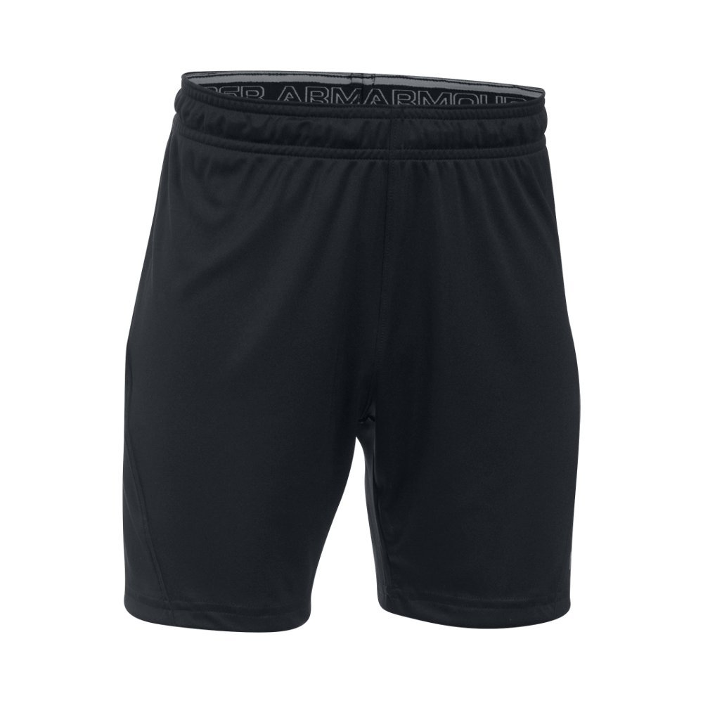 Under Armour Kids' Challenger Knit Shorts,Black (001)/Graphite, Youth X-Large by Under Armour