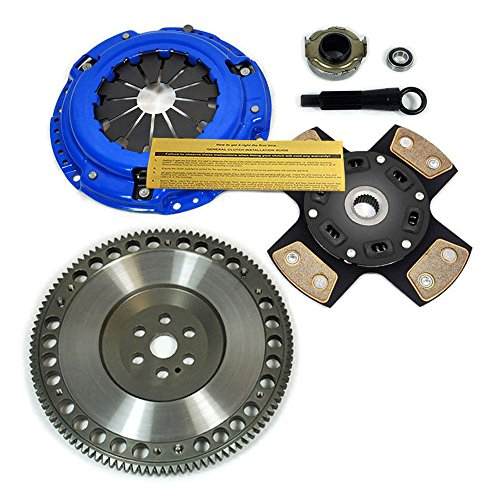 EFT 4-PUCK STAGE 3 CLUTCH KIT+RACE FLYWHEEL 92-05 HONDA CIVIC DEL SOL D15 D16 D17