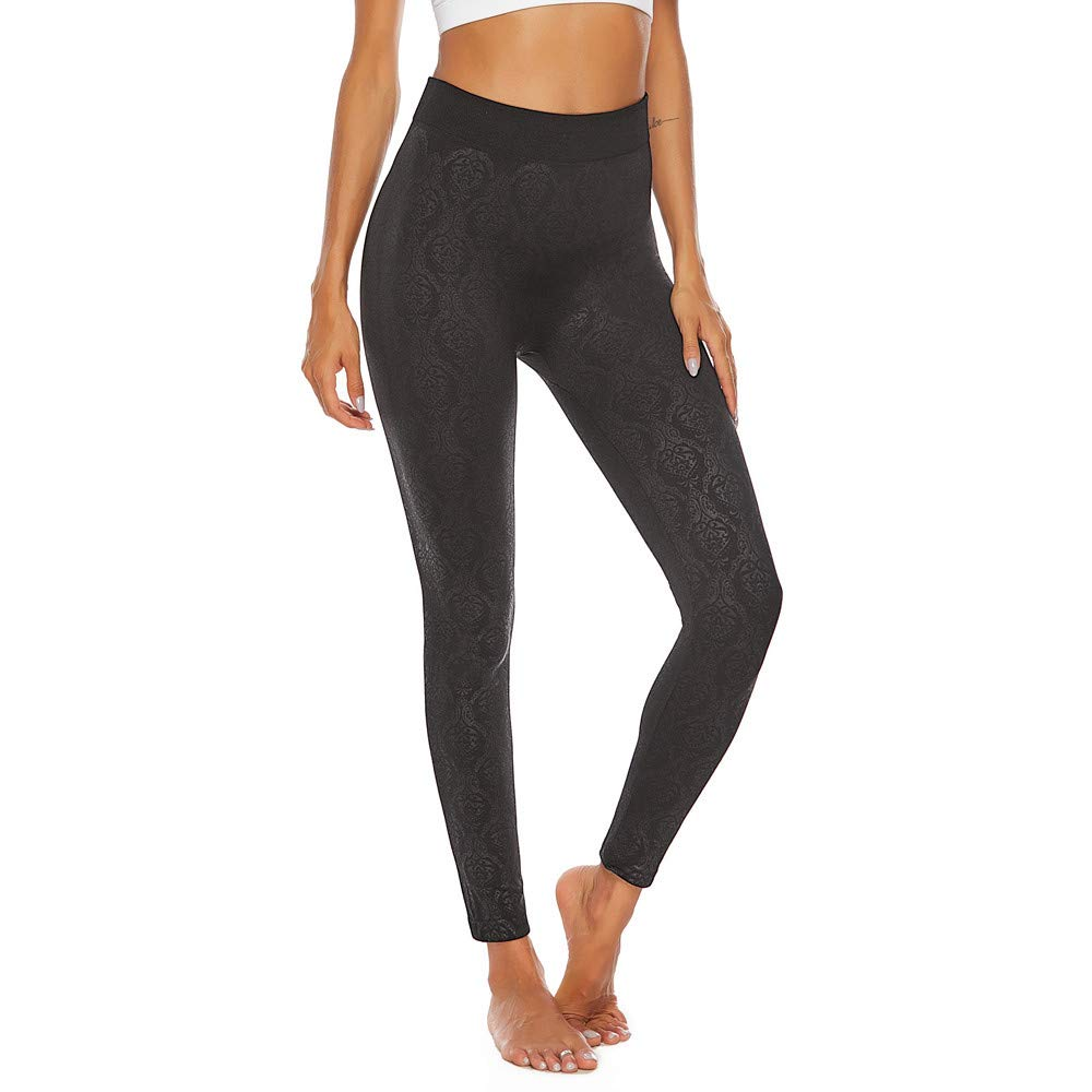 High Waist Yoga Pants - ✔ Hypothesis_X ☎ Sports Yoga Pants for Pocket Yoga Pants Tummy Control Workout Running Stretch Black