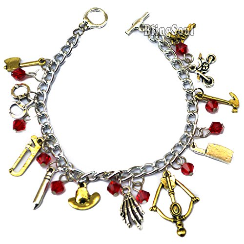 [The Walking Dead Zombie Themed Charm Bracelet Cosplay Jewelry] (Michonne Walking Dead Dog Costume)
