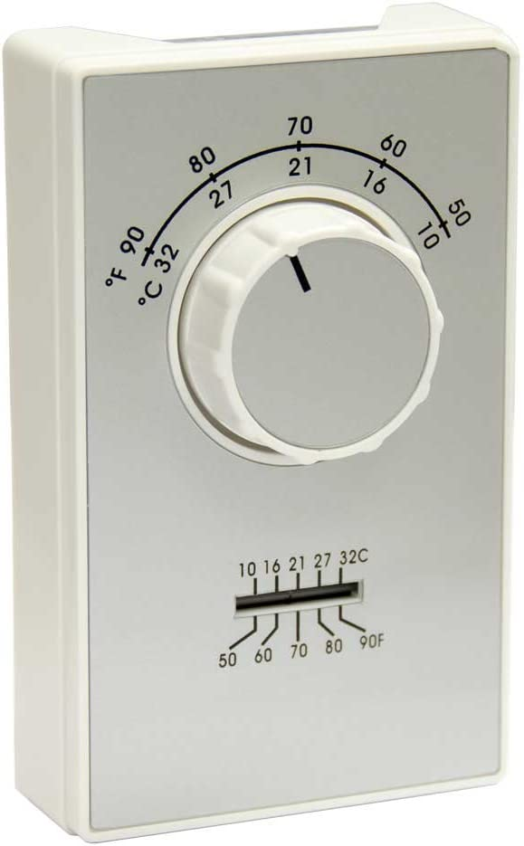 TPI ET9SRTS Series ET9 Line Voltage, SPST Cool Only, Terminal, 50°-90°F