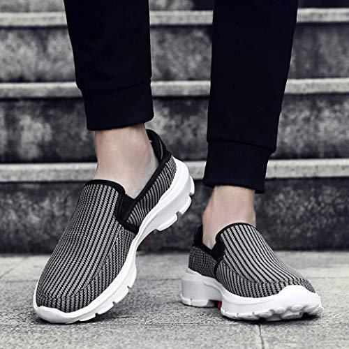 Paresseux Chaussures Baskets Filet De Mode Sport Sneakers Respirant Antidérapant Course Hommes Loisirs Gris BxrB1tw