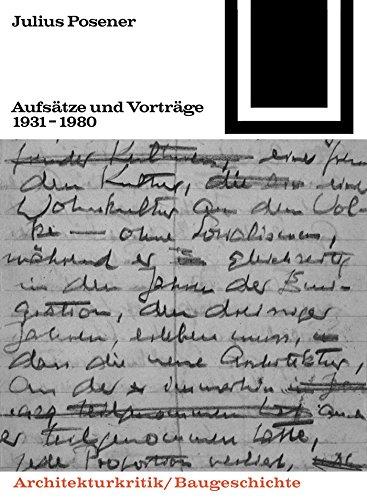 Aufsätze und Vorträge 1931-1980 (Bauwelt Fundamente) (German Edition)