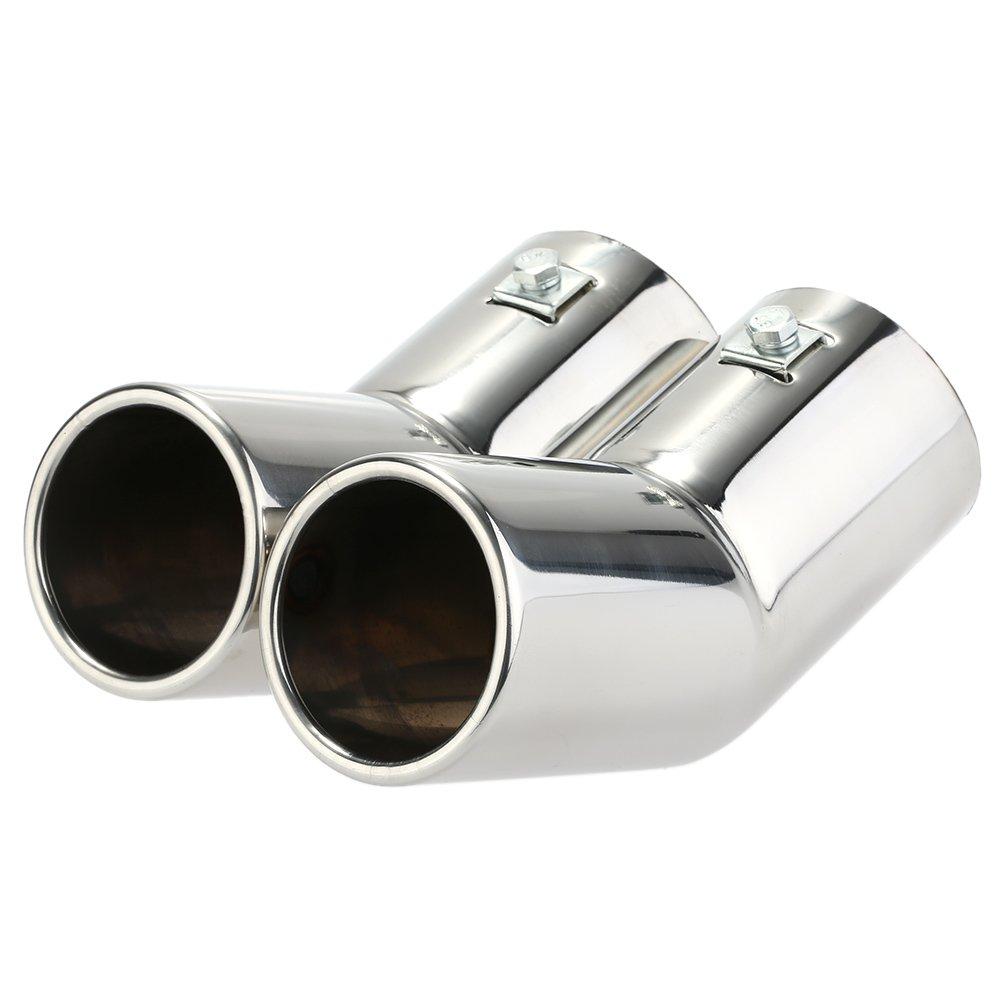 KKmoon NTK2839450428809RF Doppio Tubi di Scarico Ad Acciaio Scarico Inossidabile Della Marmitta