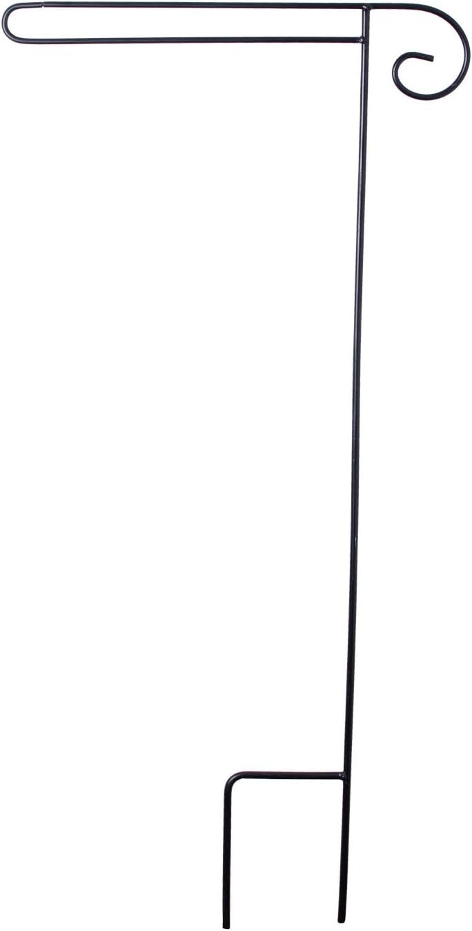 """Briarwood Lane Wrought Iron Black Wrap Around Garden Flag Stand 38"""" H"""