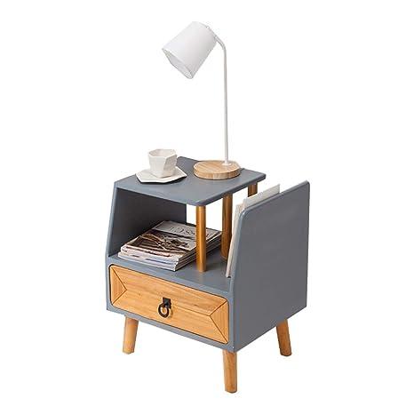 Amazon.com: Mesa de noche multifuncional creativa de madera ...