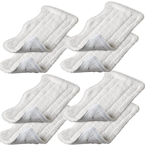 Iautomatic 8pcs Replacement Microfiber Pads for Euro Pro Shark Steam Mop S3250 S3101 (set of 8) (Shark Steam Pro Pads compare prices)