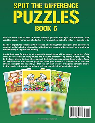 Spot the Difference Puzzles - Book 5: A Brain Teasing ...