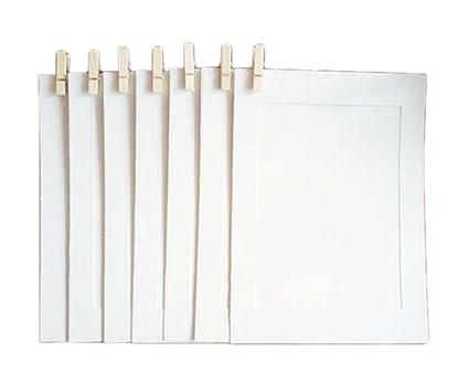 Amazon.com - White 16.3x11.5 cm Lightweight Cardboard Paper Photo ...