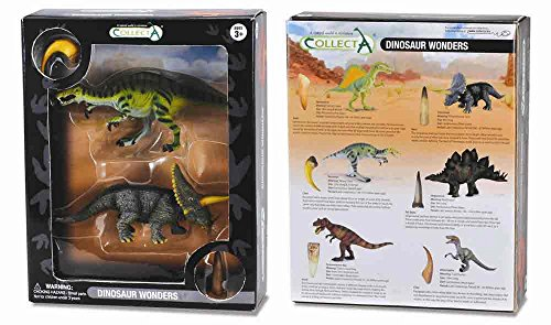 CollectA Dinosaur Wonders Triceratops and Baryonyx Figure