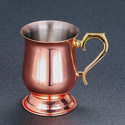 EKUEE 340ml Moscow Mule Mug Copper Plated Mug Blue Blazer Mugs Cocktail Mug