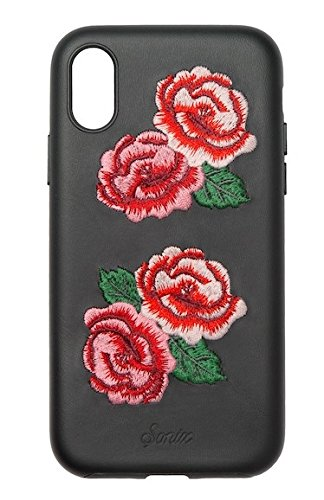 Phone Case Embroidered (Sonix Flora Embroidered Premium Leather Case for iPhone X - In Retail Packaging)