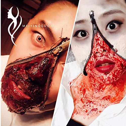 MatureGirl Halloween Scary Creepy Props, Fake Blood Ultra-Realistic Simulation Human Vampire Party Make up Prop,Edible Film Blood Plasma Party Cosplay Prop Fresh Blood (50ML, Venous Blood) -