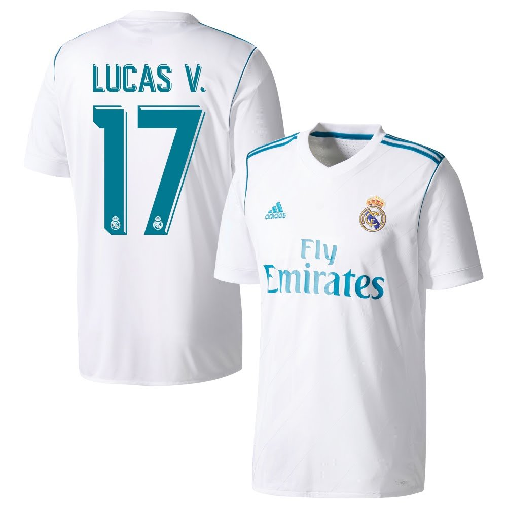 Real Madrid Home Trikot 2017 2018 + + + Lucas V. 17 - L 96dc09