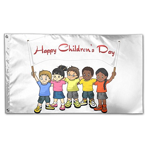 Colby Keats Happy Childrens Day Garden Lawn Flags Indoor Outdoor Decoration Home Banner Polyester Sports Fan Flags 3 X 5 Foot]()