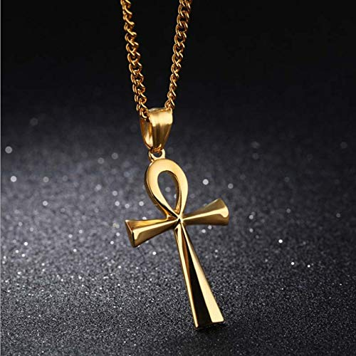 Amazon com: Golden Store129 Religion Egyptian Ankh Crucifix