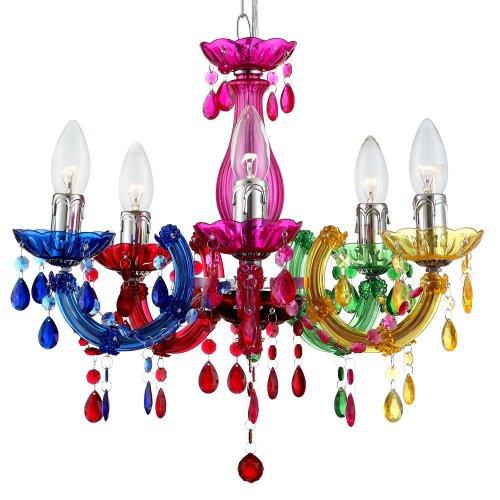 High Quality Globo 63118u20135 Cuimbra II Kronleuchter, Acryl, Rainbow: Amazon.de:  Beleuchtung