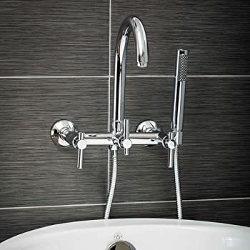 Moen T6107 Kingsley Two-Handle Low Arc Wall Mount Bathroom