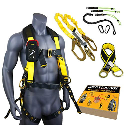 KwikSafety (Charlotte, NC) TYPHOON KIT | 3D Full Body Tongue Buckle w/Back Support Safety Harness, Bolt Pouch, 6' Lanyard, Tool Strap, 3' Anchor ANSI PPE Fall Protection Equipment Construction Bucket by KwikSafety (Image #10)