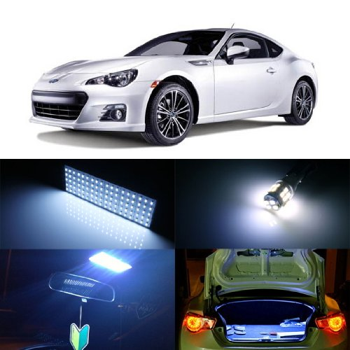 iJDMTOY Super Bright 110-SMD 2-Piece Exact Fit Full LED Interior Light Package For 2013-2016 Scion FR-S Subaru BRZ, 2017 Toyota 86, Xenon White color