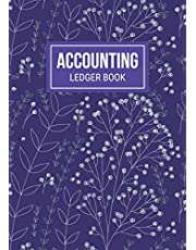 Accounting Ledger Book: Simple A4 Cash Book, Ledger Bookkeeping Books for Small Business, Income and Expenses Payment Record Book