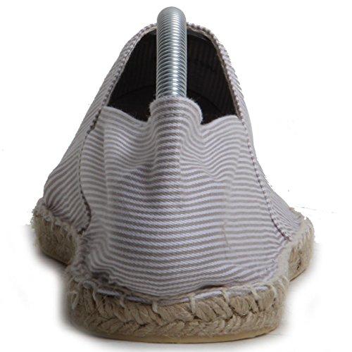cucita Expadrille on Striped tessile slip scarpe mano a White uomo casual superiore Burton 04w1qUR1