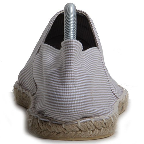 scarpe White cucita superiore casual Expadrille Striped a on Burton slip tessile uomo mano apIwFq