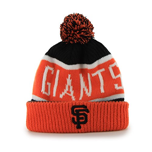 [MLB San Francisco Giants '47 Brand Calgary Cuff Knit Hat with Pom, Black, One Size] (Team Knit Hat)