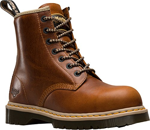 Dr.martens Men Icon 7b10 Stivali In Acciaio A Punta 7 Occhi, Pelle Marrone, 13 M Uk, 14 M Us