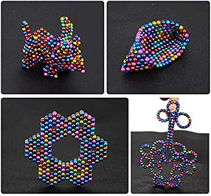 Lazyocean Upgraded 1000 Pieces 3mm Sculpture Building Blocks Toys for Intelligence Learning Office Toy /& Stress Relief for Adults 10 Color