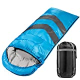 Cheap Large Sleeping Bag For Warm And Cold Weather 4 Seasons Comfortable At 32-60 Degrees Lightweight Waterproof Envelope Sleeping Bag For Camping Hiking Traveling Extra Large Wide For An Adult Male