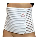 ITA-MED Breathable Abdominal Light Support Binder Belt for Women AB-208(W), White, Small