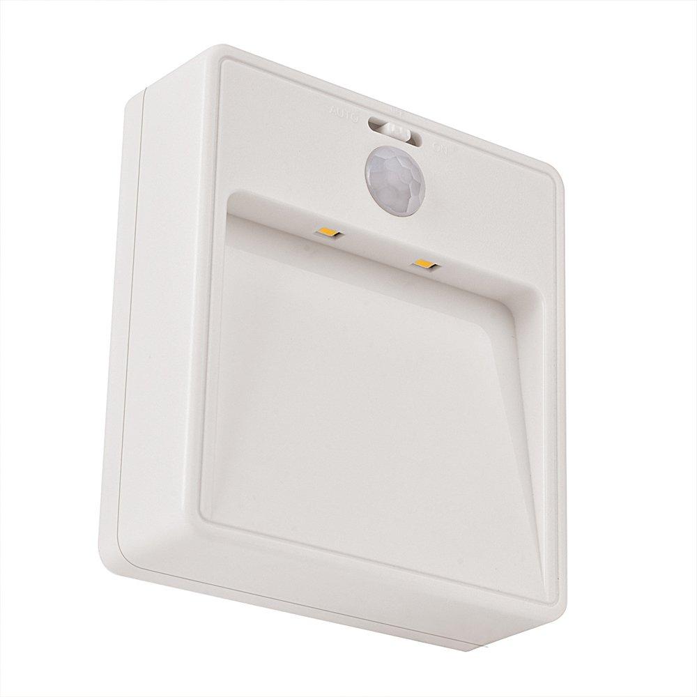 バッテリ駆動式モーション検知LEDスティック、LEDナイトライト、センサーライト、人体赤外線センサーライトの寝室子供部屋廊下階段バスルームキッチンand More – ウォームホワイト B07BWHDXF4