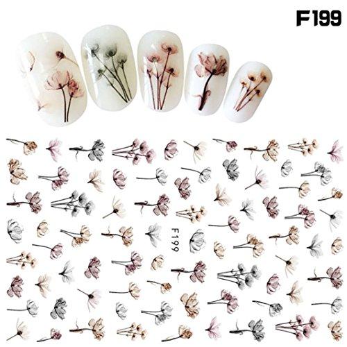 (Nail Art Stickers,Putars Fashion 1Pcs Women Nail Art Nial Sticker Halloween Designs Girl Beauty Nail Tools)