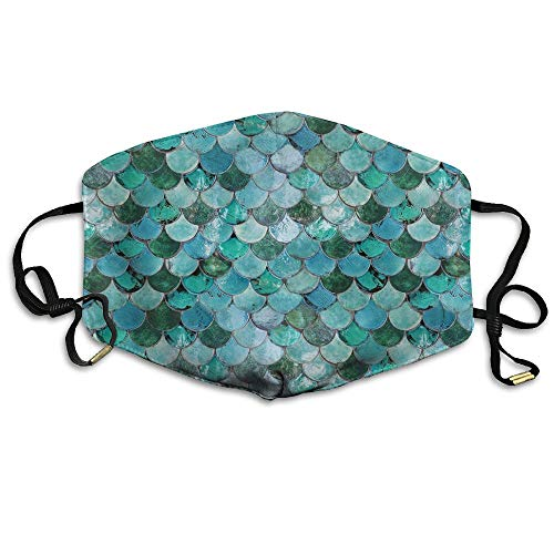 Zhenyun Mermaid Fish Scales Anti Dust Face Mask,Reusable Warm Windproof Mouth Mask