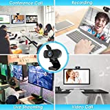 Webcam, HD Webcam 1080P with Privacy Shutter and