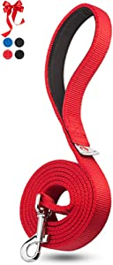 Dutchy Brand Heavy-Duty Dog Leash - Training-Lead with Comfortable Handle - 6 Feet Long by 1 Inch Wide - Perfect Length to Control Strong Dog and Puppy That Likes to Pull