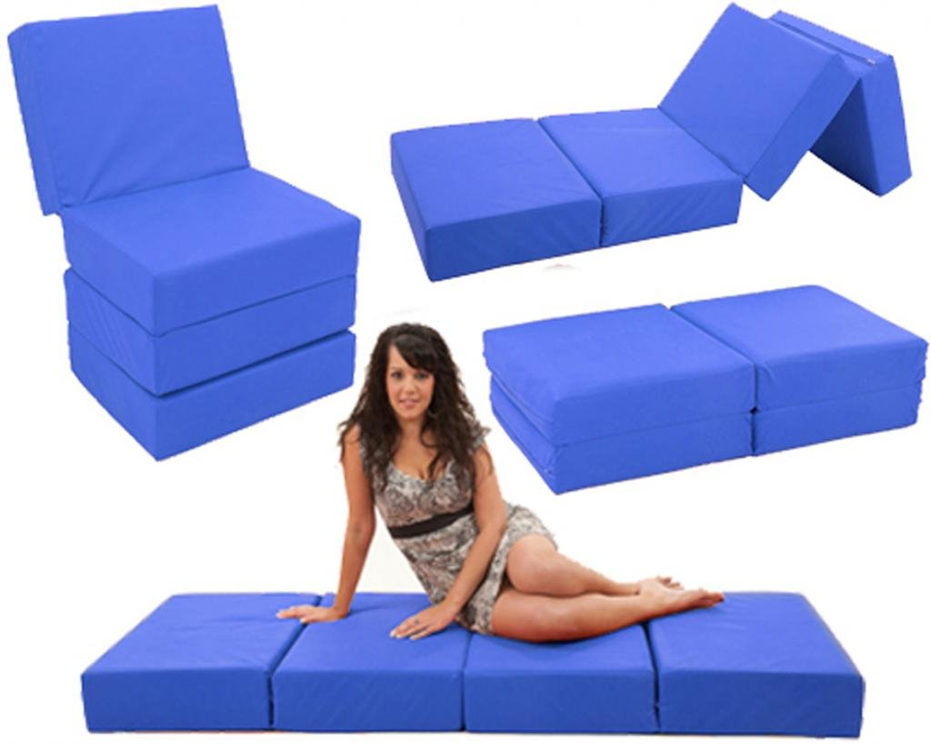 Royal FLEXY 4  Multiposition 6  FOAM Chairbed fold out Guest Z chair bed futon (Natural)