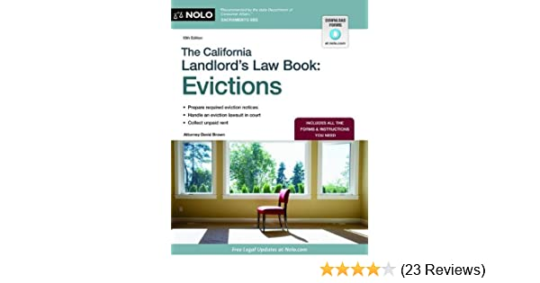 Amazon com: The California Landlord's Law Book: Evictions