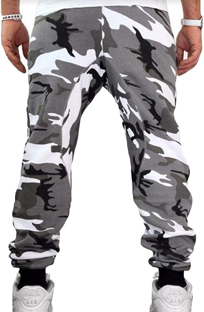Kunfang Pantaloni Mimetici Uomo Ragazzi Ragazzi Pantaloni Sportivi Casual Uomo Pantaloni Sportivi da Jogging Casual a Tutta Lunghezza Fitness Hip Hop