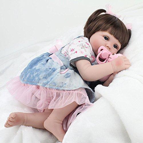 markids 22インチ/ 55 cmシリコンReborn人形ソフトベビー玩具ギフトforガール布ボディ   B07BJ1DN6Q