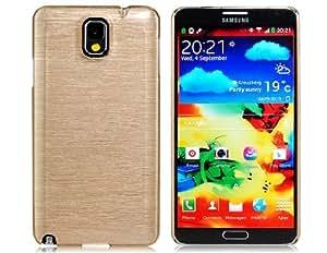 Trefilado de plástico para Samsung Galaxy Note N9000 N9005 3 (Gold Luxury)