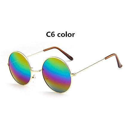 CCGSDJ Versized Retro Gafas De Sol Redondas Mujer Diseñador ...