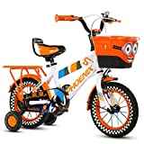 18 Inch Kids Bikes 6-11 Years Old Children's Bicycle, Mountain Bike,Boys Girls Pedal Tricycle, High Carbon Steel Frame (Color : ORANGE)