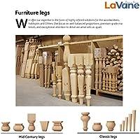 La Vane - Patas de madera para muebles, juego de 4 patas de ...