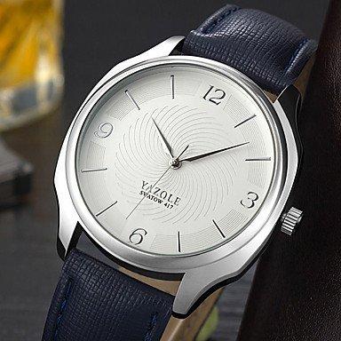 Bella relojes, yazole para hombre reloj Casual Chino cuarzo reloj Casual PU banda minimalista de Tendenza negro azul marrón, Black/White: Amazon.es: ...