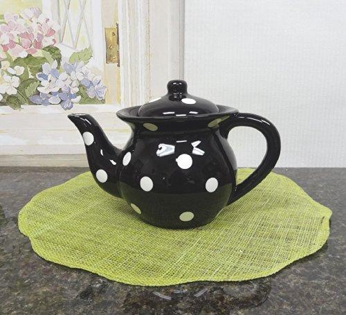 Viva Collection, BLACK, Polka Dot Teapot 6