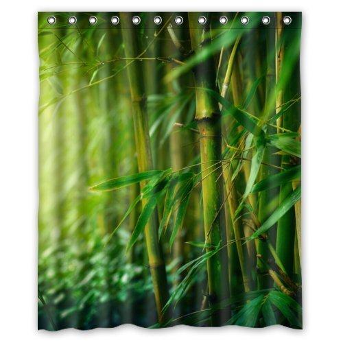 Elegant Green Bamboo Shower Curtain 60x72 Waterproof Polyester Fabric Custom Beautiful Scenery Shower Curtain NCCM-CA