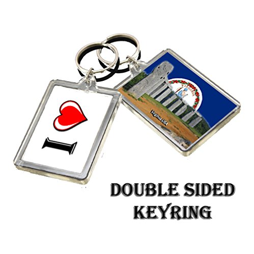0412 VIRGINIA KEYRING I HEART USA LANDMARKS, USA ATTRACTIONS - Virginia Landmark